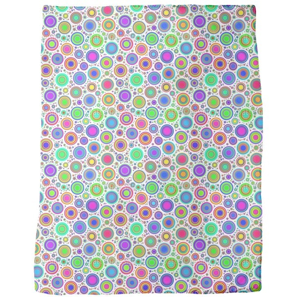 Neon Bubbles Fleece Blanket