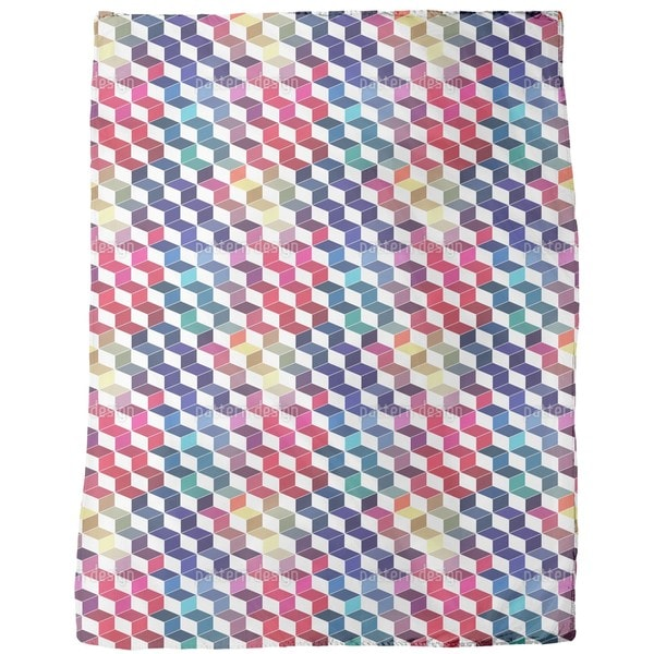 Dimension of Stacked Squares Fleece Blanket
