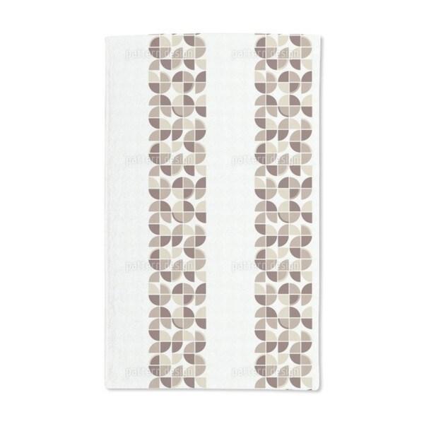 Retropolis Brown Hand Towel (Set of 2)