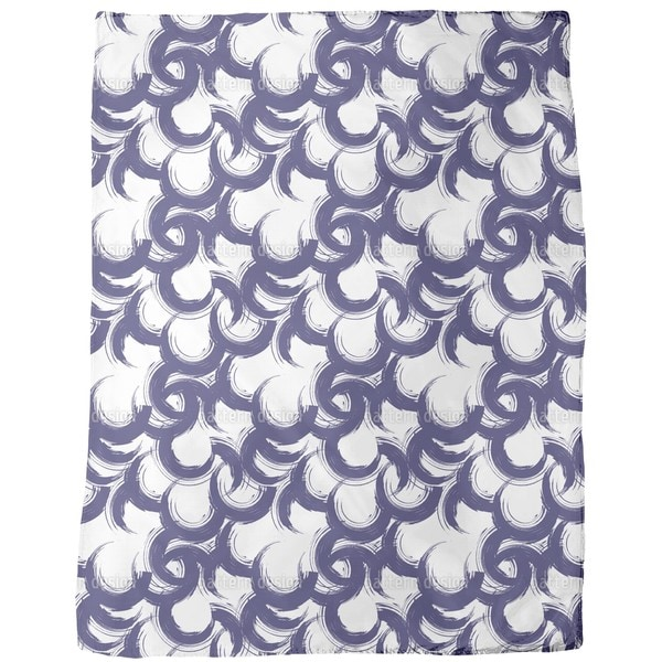 Lively Painted Circles Fleece Blanket