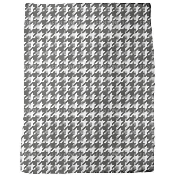 Houndstooth Variation Fleece Blanket