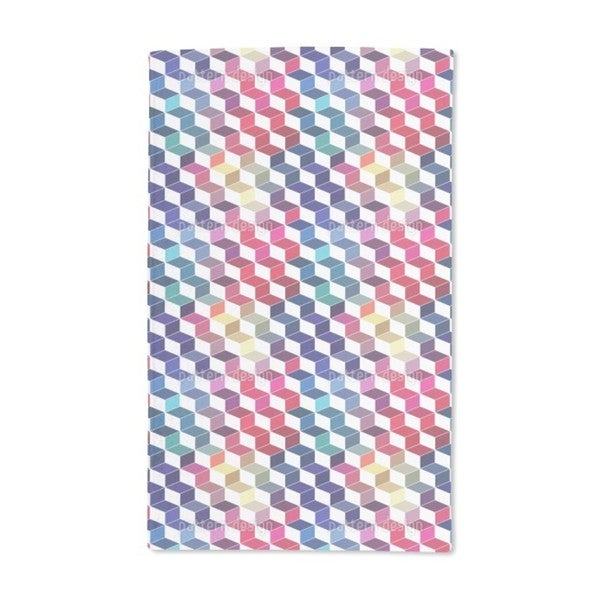 Dimension of Stacked Squares Hand Towel (Set of 2)