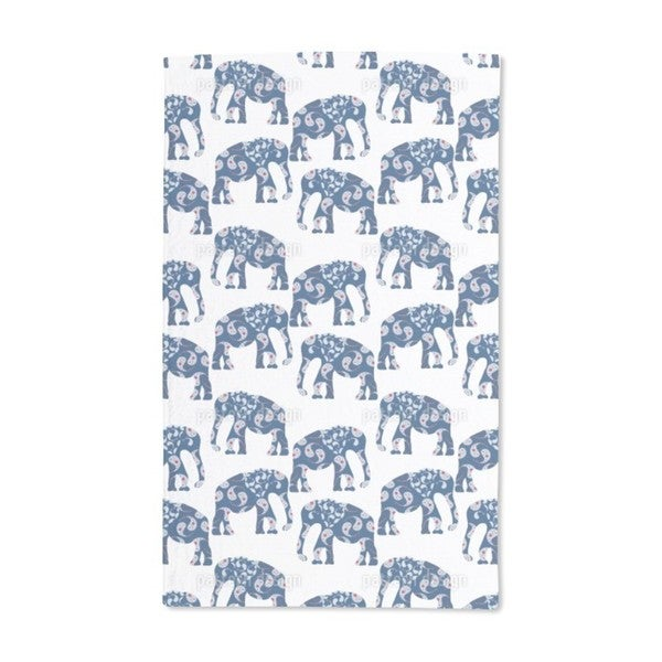 Patchwork Elephant Hand Towel (Set of 2)