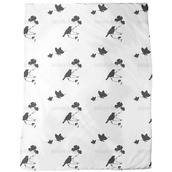 Animals in Spring Fleece Blanket