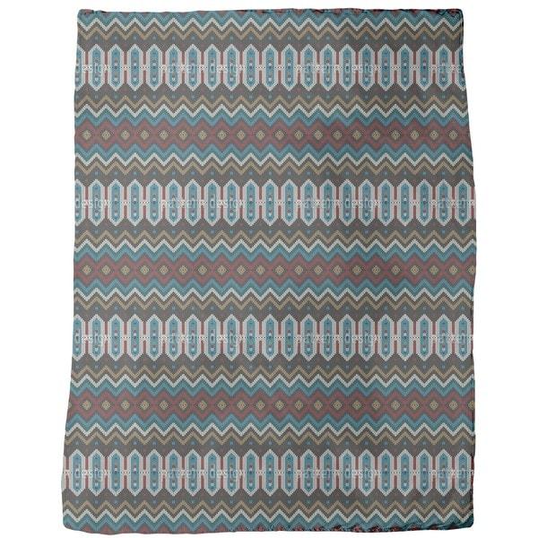 Knitted Ethno Fleece Blanket