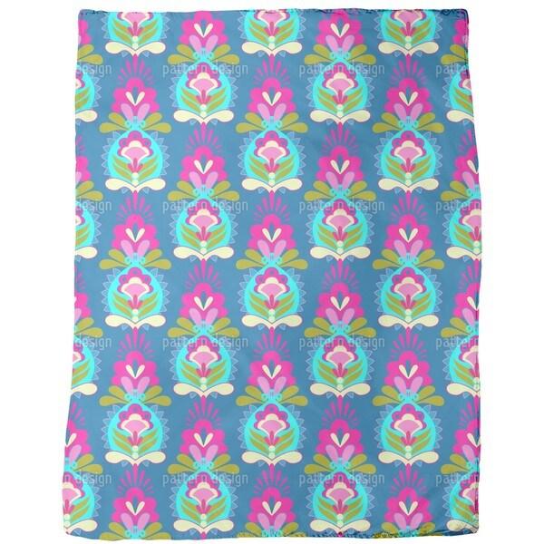 Flower Greetings Fleece Blanket