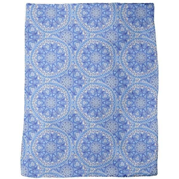 Gzhel Ceramics Fleece Blanket