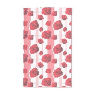 Red Roses Hand Towel (Set of 2)