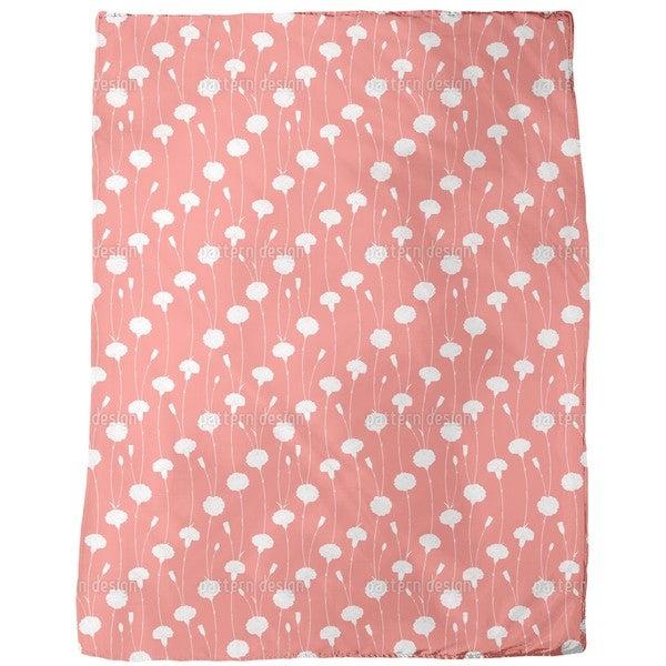 Nostalgic Carnations Fleece Blanket