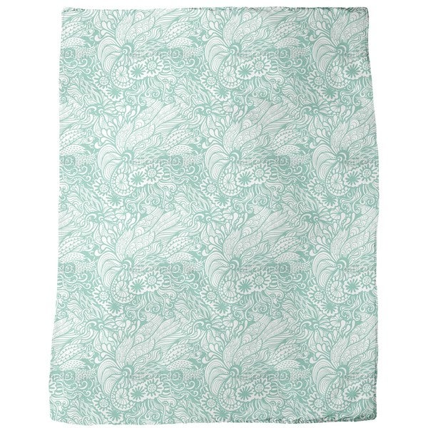 Art Nouveau of the Ocean Fleece Blanket