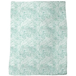 Art Nouveau of the Ocean Fleece Blanket