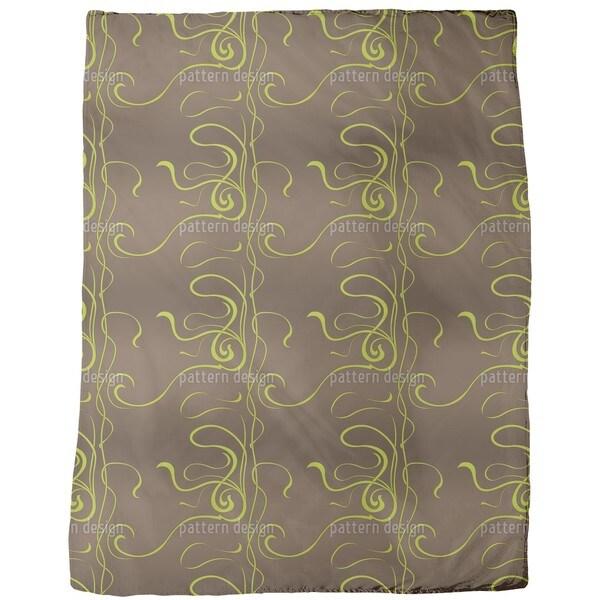 Moulin Nouveau Brown Fleece Blanket