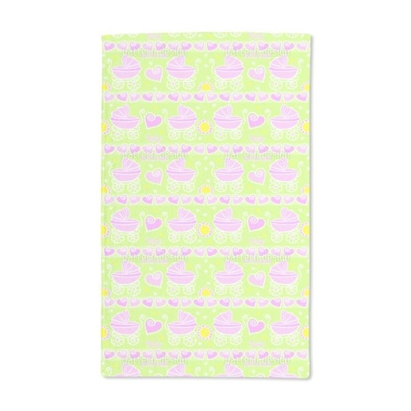 Neon Baby Pink Hand Towel (Set of 2)
