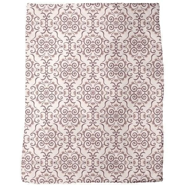 Lace Idol Brown Fleece Blanket