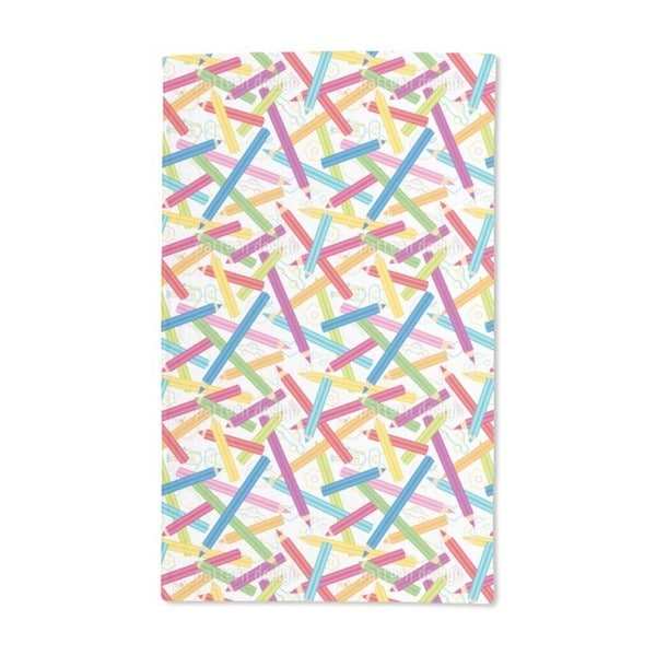 Colored Pencils Hand Towel (Set of 2)