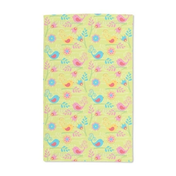 Colorful Birdsong Hand Towel (Set of 2)