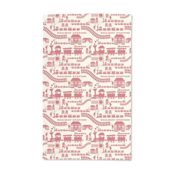 Railway Station Red Hand Towel (Set of 2)