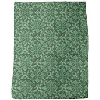 Green Romance Fleece Blanket