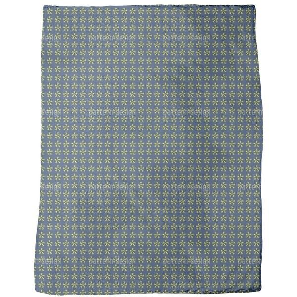 Flower Crossover Fleece Blanket