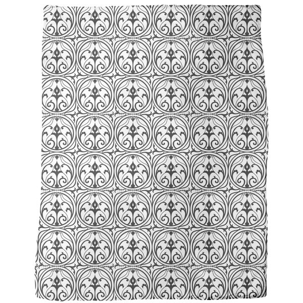 Loretta Black White Fleece Blanket