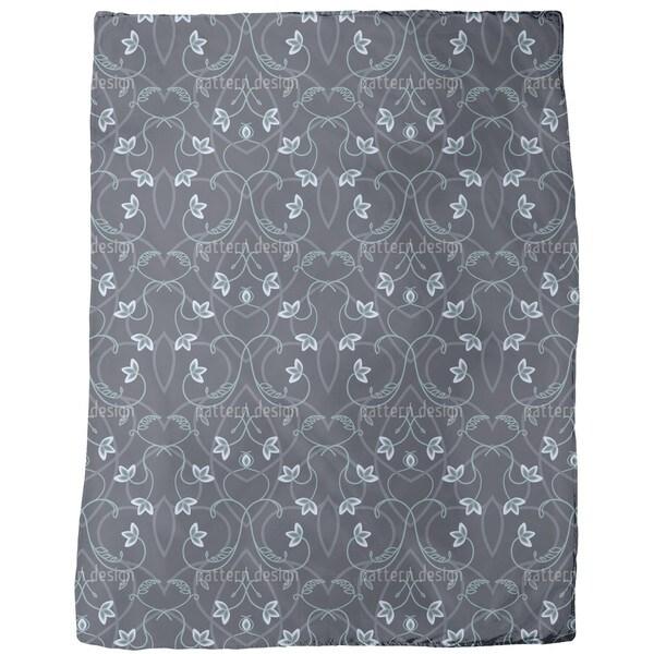 Gothic Flower Fantasy Fleece Blanket