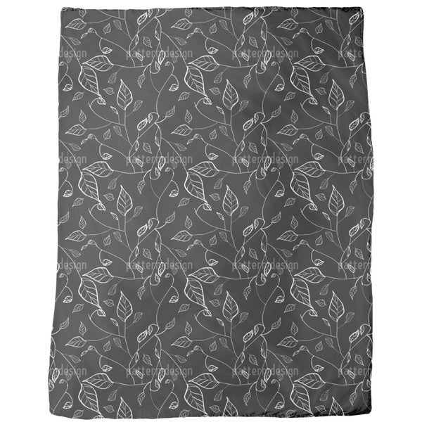 At Night in Leafy Forest Fleece Blanket