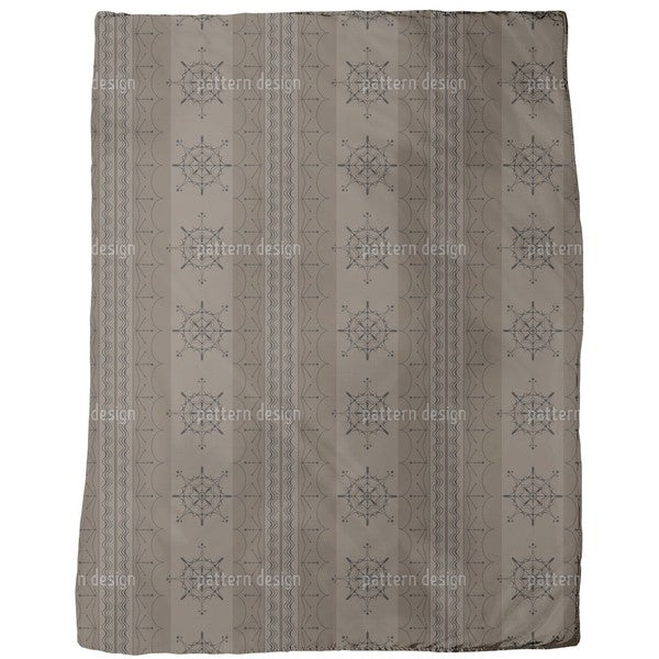 Nordic Brown Fleece Blanket