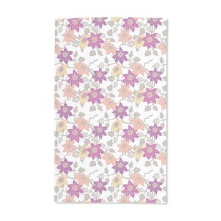 Clematis Dream Garden in White Hand Towel (Set of 2)