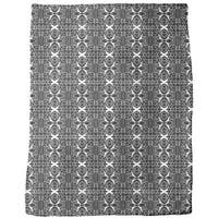 Free Form Black and White Fleece Blanket
