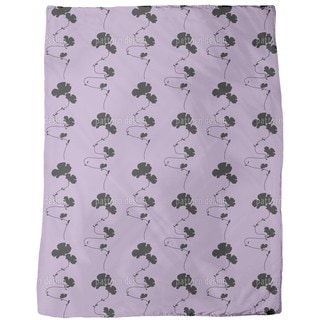 Shadow Play Purple Fleece Blanket
