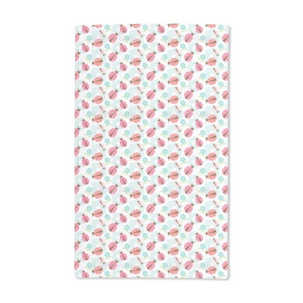 Flowers and Ladybugs Hand Towel (Set of 2)