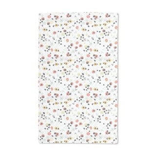 Mille Fleur White Hand Towel (Set of 2)