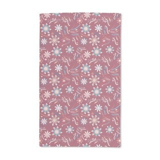 Flowers Dance Red Hand Towel (Set of 2)