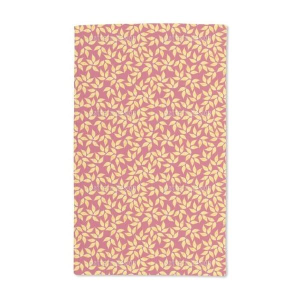 Golden Leaf Hand Towel (Set of 2)