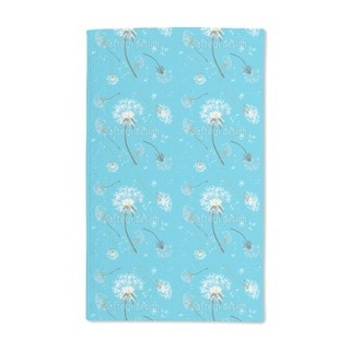 Dandelions Blue Hand Towel (Set of 2)