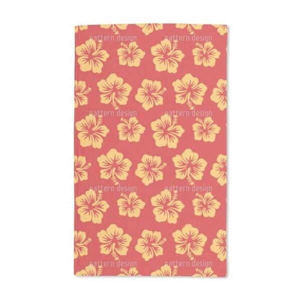 Hibiscus Greetings From Hawaii Hand Towel (Set of 2)