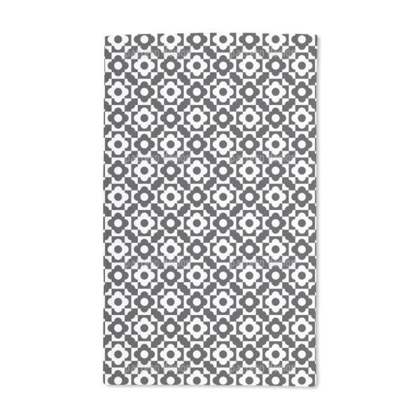 Geometric Flower Shapes Hand Towel (Set of 2)
