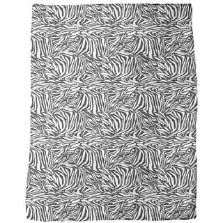Zebra Black and White Fleece Blanket