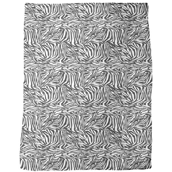 Zebra Black and White Fleece Blanket