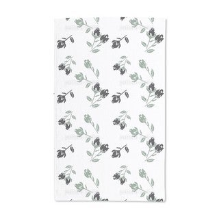 Black Roses Hand Towel (Set of 2)