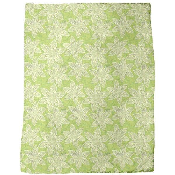 Flower Cartoon Fleece Blanket