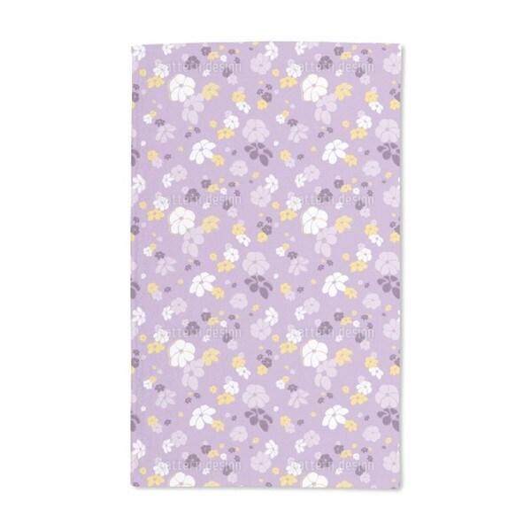 Lilac Flower Rain Hand Towel (Set of 2)