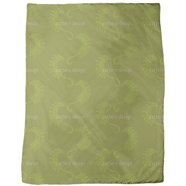 Dolce Farniente Green Fleece Blanket