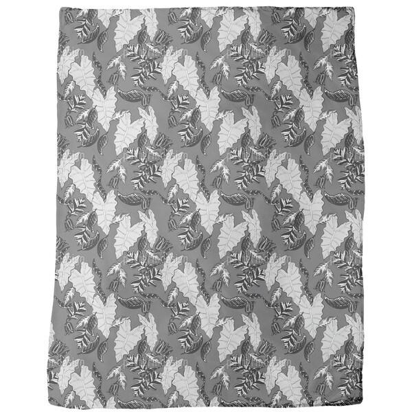 Retro Leaves Fleece Blanket