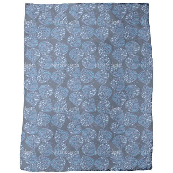 Marine Blue  Fleece Blanket