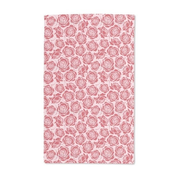 Rose Blossoms Rosey Hand Towel (Set of 2)