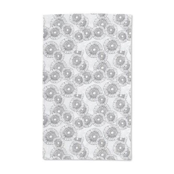 Sun Flowers Grey Hand Towel (Set of 2)