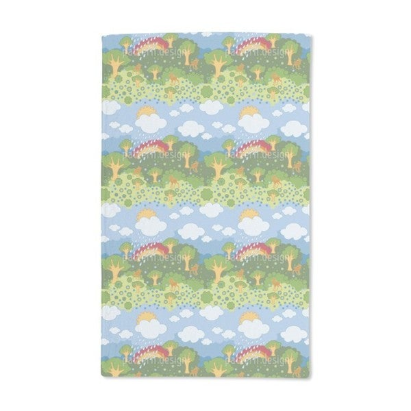 Rainbow Wonderland Hand Towel (Set of 2)