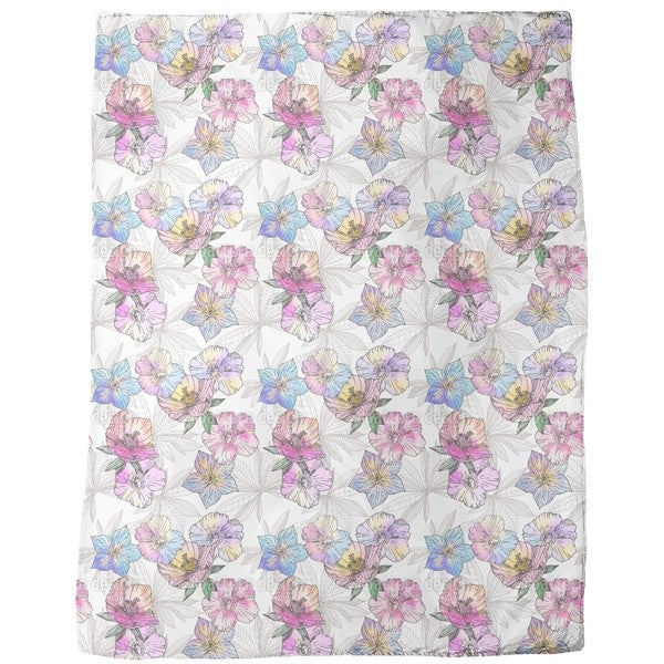 Flora Loves Water and Color Fleece Blanket