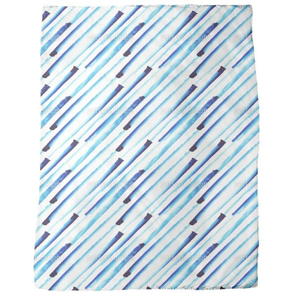 It is Raining Water Colors Fleece Blanket